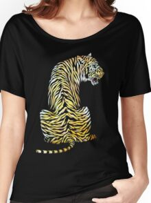 roaring tiger lion back strength Women's Relaxed Fit T-Shirt