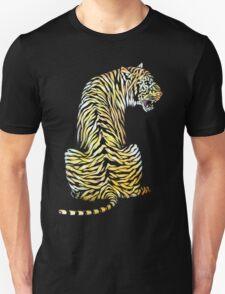 roaring tiger lion back strength Unisex T-Shirt