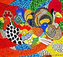 Chickens by artstoreroom