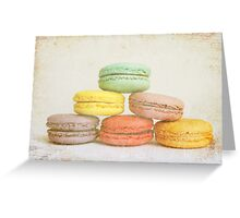 Parisian Macaroons Greeting Card