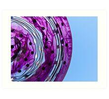 Purple n Blue Sky Art Print
