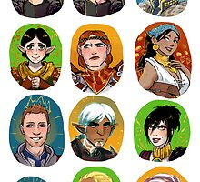 DRAGON AGE ORIGINS / DRAGON AGE II sticker set by Ohrwurm