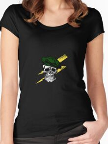 Commando Skull Women's Fitted Scoop T-Shirt