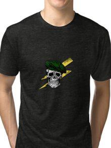 Commando Skull Tri-blend T-Shirt