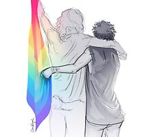 The Rainbow Flag: 'I would if I could… not yet, but soon.' by claudiyah