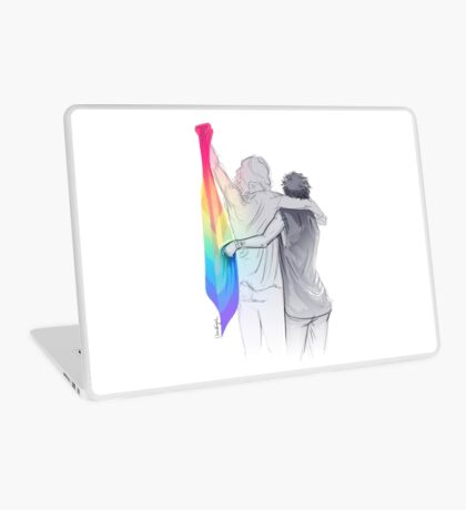 The Rainbow Flag: 'I would if I could… not yet, but soon.' Laptop Skin