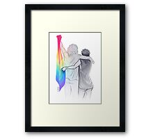 The Rainbow Flag: 'I would if I could… not yet, but soon.' Framed Print