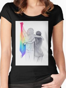 The Rainbow Flag: 'I would if I could… not yet, but soon.' Women's Fitted Scoop T-Shirt
