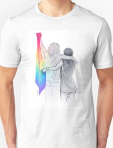 The Rainbow Flag: 'I would if I could… not yet, but soon.' T-Shirt