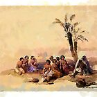 Abyssinian Slaves Resting at Korti Nubia 1838 by Dennis Melling