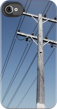 iphone case - power pole. by Lynne Haselden