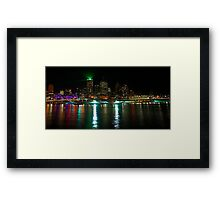 Brisbane Laser Show September 2011 Framed Print