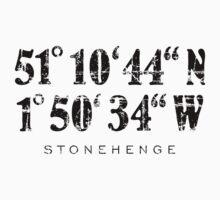 Stonehenge Coordinates Vintage Black Kids Tee