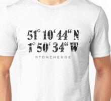 Stonehenge Coordinates Vintage Black Unisex T-Shirt
