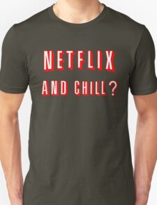 Netflix and Chill Black T-Shirt