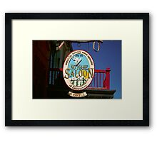 No Name Saloon Framed Print