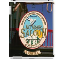 No Name Saloon iPad Case/Skin