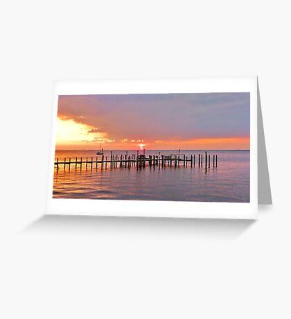 PUNTA GORDA SUNSET, Panasonic Lumix Greeting Card