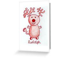 Mr.Rudolph Greeting Card