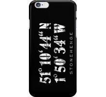 Stonehenge Coordinates Vintage White iPhone Case/Skin