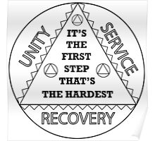 Addiction 12 Step  Poster