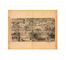 Map of the World (1581) Art Print