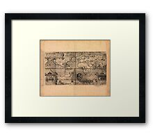 Map of the World (1581) Framed Print