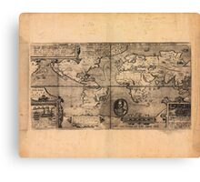 Map of the World (1581) Canvas Print