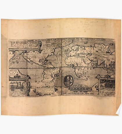 Map of the World (1581) Poster