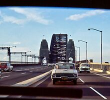 1968 SYDNEY HARBOUR BRIDGE TRAFFIC by Russell Charters