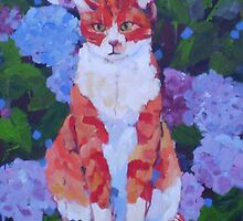 Rodney - the marmalade cat. by Mellissa Read-Devine
