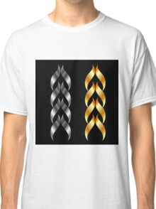 Design element in gold and silver  Classic T-Shirt