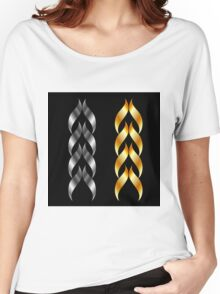Design element in gold and silver  Women's Relaxed Fit T-Shirt