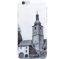 Church of St Adalbert in Vlčice iPhone Case/Skin