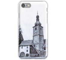 Church of St Adalbert in Vlčice iPhone Case/Skin