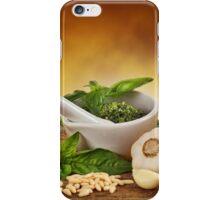 Pesto Genovese ingradients iPhone Case/Skin