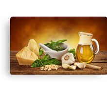 Pesto Genovese ingradients Canvas Print