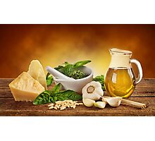 Pesto Genovese ingradients Photographic Print
