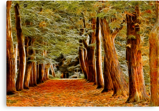 Fractalius Autumn Walkway by Trevor Kersley