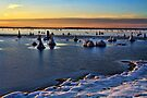 Sunset Over Ice by Carolyn  Fletcher