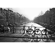 Bicycles on the Bridge Photographic Print