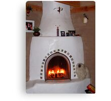 First Fire of the Season Canvas Print