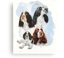 English Springer Spaniel /Ghost Canvas Print