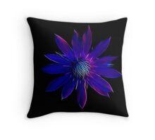 Lilac Fractal Leakage Throw Pillow
