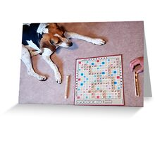 Dogs love to play games Greeting Card