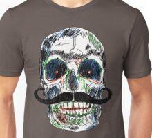 Skull moustaches Unisex T-Shirt