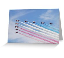 The Red Arrows at Airbourne Greeting Card