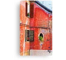 Three windows - One round Canvas Print