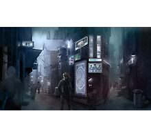 Cyberpunk Street at night Photographic Print
