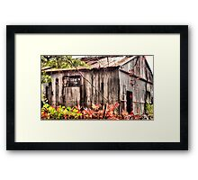 Tin Roof Rusted Framed Print